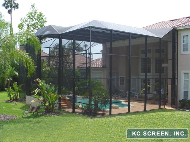 Orlando Aluminum Roof Enclosure Kc Screen