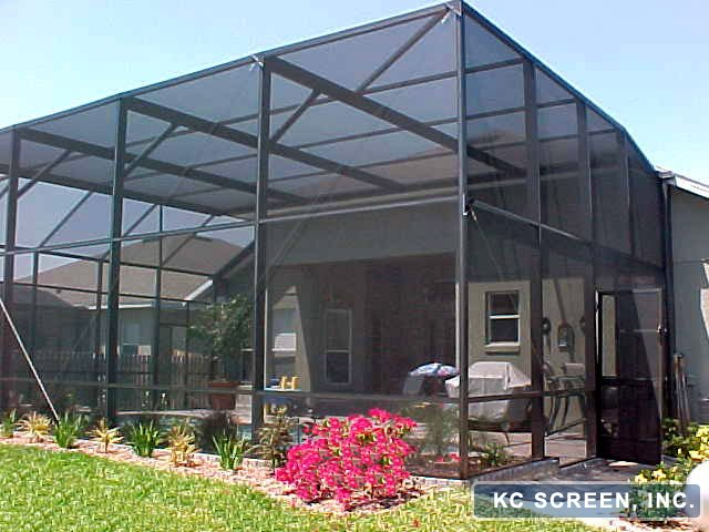 Flat Shed Screen Enclosure